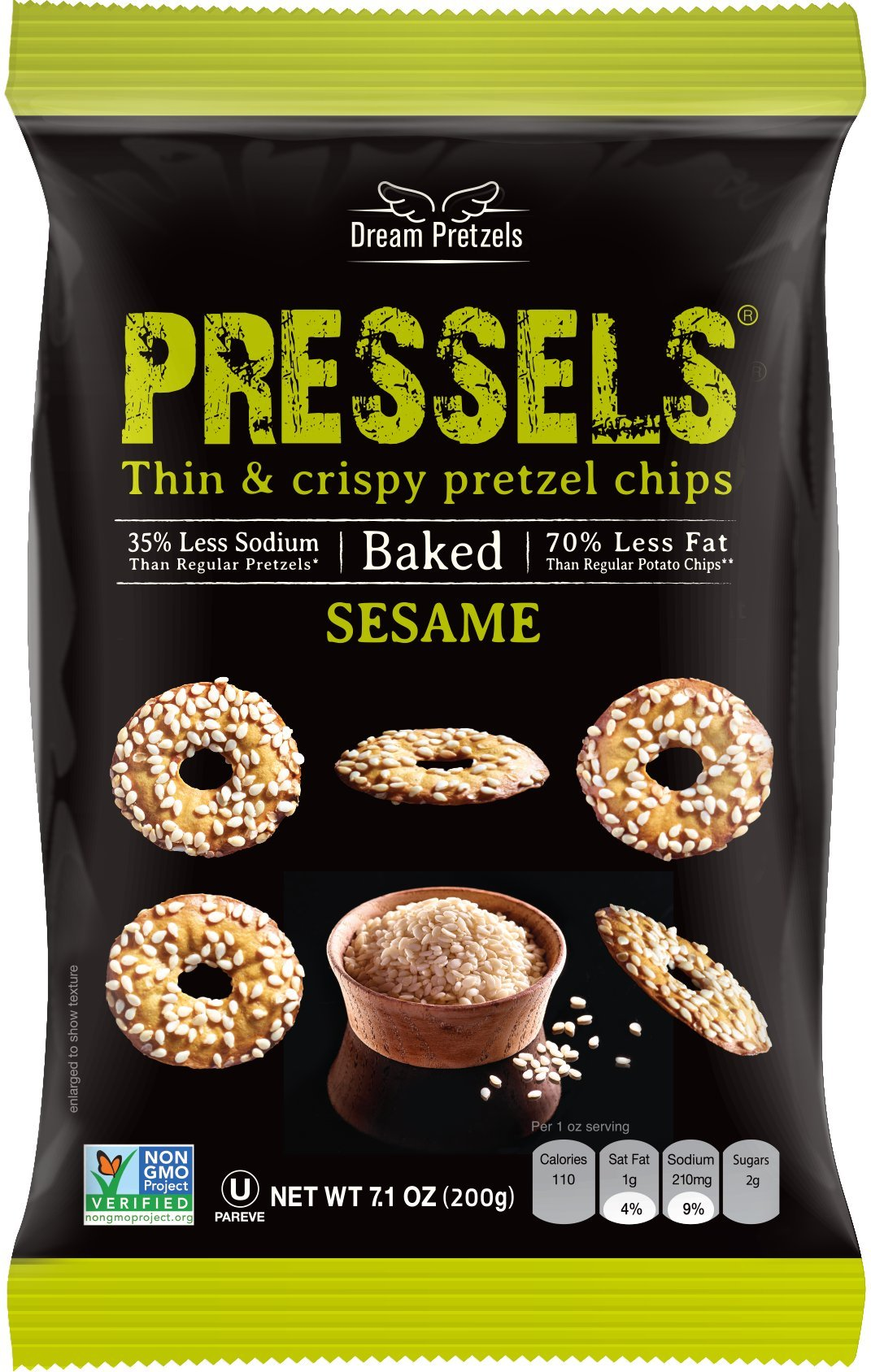 Dream Pretzel Chip Pressel Sesame natural, 7.1 oz