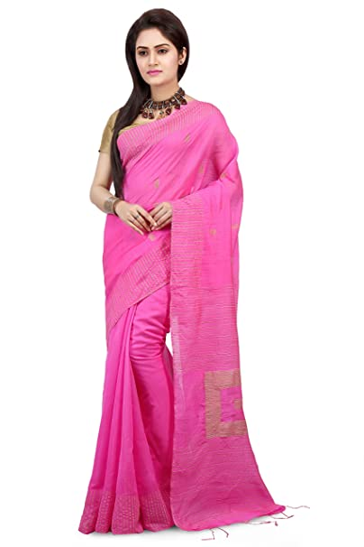 ad913519a115a0 WoodenTant Women s Silk Cotton Saree with Blouse Piece (WBG02