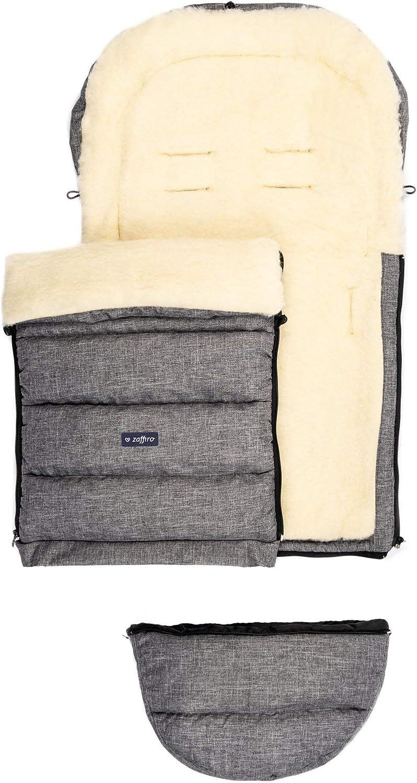 Zaffiro iGrow Poussette universelle en laine de mouton