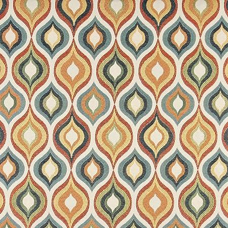 CoralGold Floral Metallic Brocade Woven Fabric