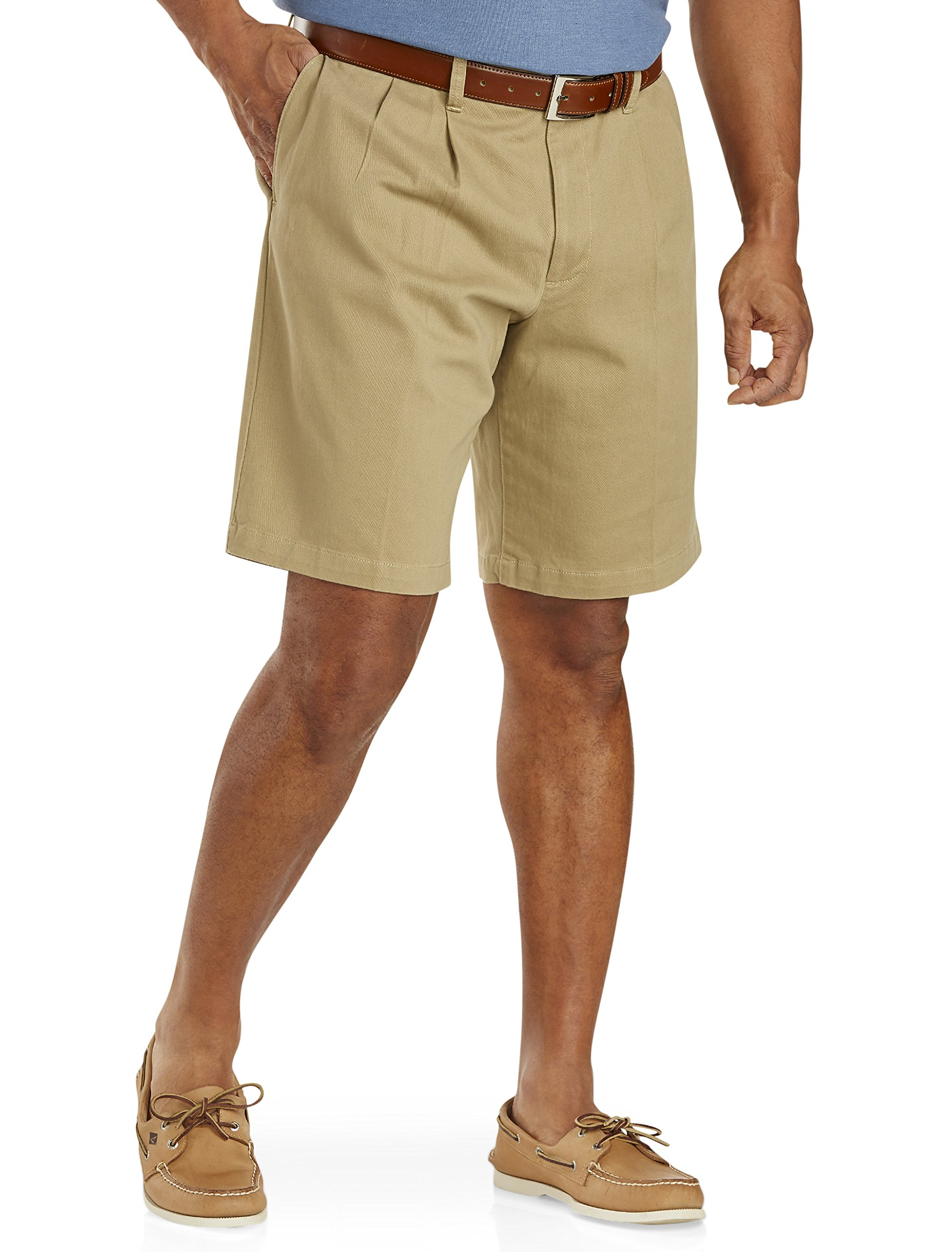 Dockers Big and Tall Mens Double Pleated Shorts