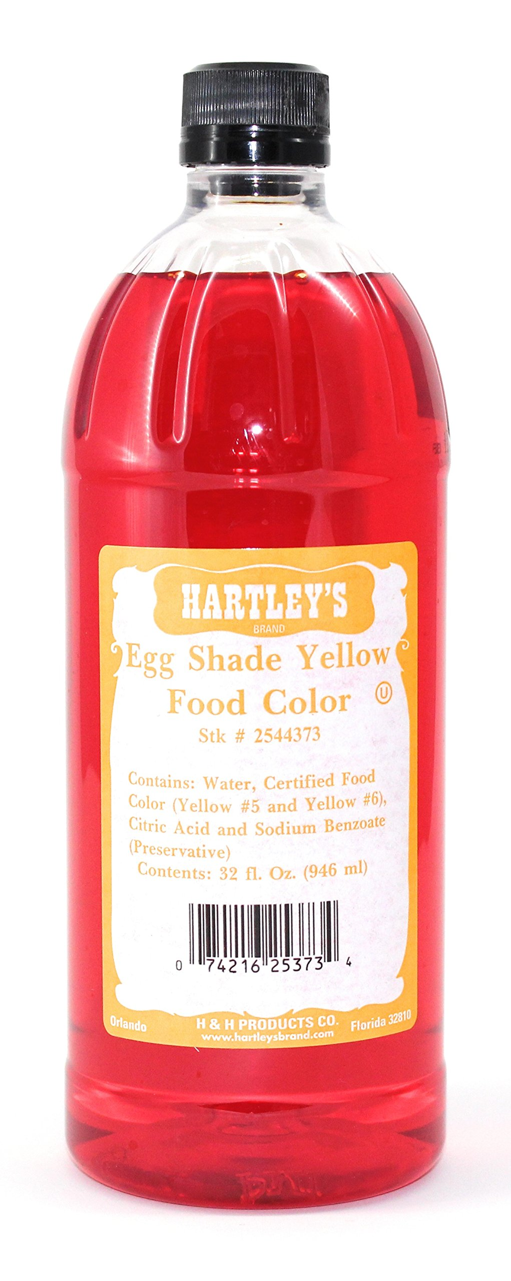 Hartleys Yellow Food Coloring Commercial Grade Professional Kitchen Egg Shade Yellow Culinary Liquid Color 32 Oz ✡ OU Kosher