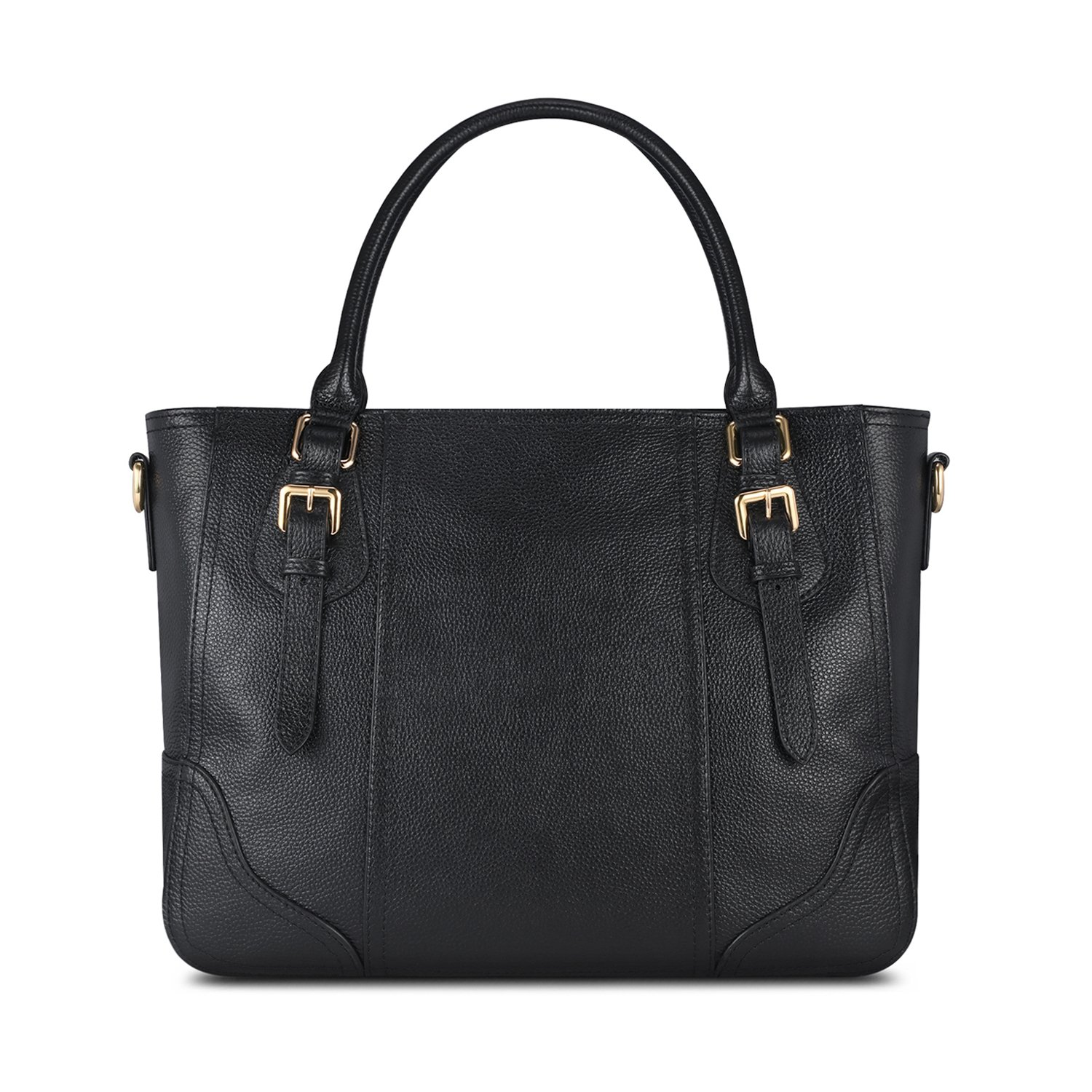 Kattee Vintage Genuine Soft Leather Shoulder Handbag Black