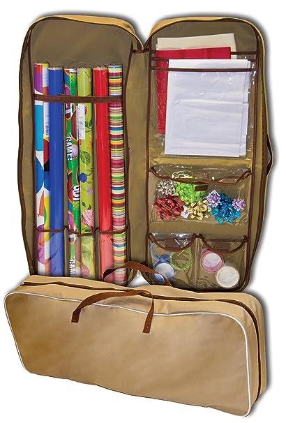 Genial Master Craft Gift Wrap Storage Bag, Tan