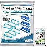 RespLabs Filtry Ogólne CPAP - Pasują do Philips Respironics DreamStation, 3 Wielokrotnego Użytku i 6 Jednorazowych…