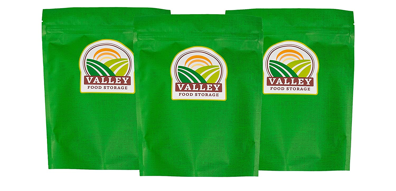 Valley Food Storage Partially Freeze-Dried White Bean & Lime Chili 3-Pack   Lunch or Dinner   Emergency Food Storage   Camping Essentials   Long-Term Food Storage