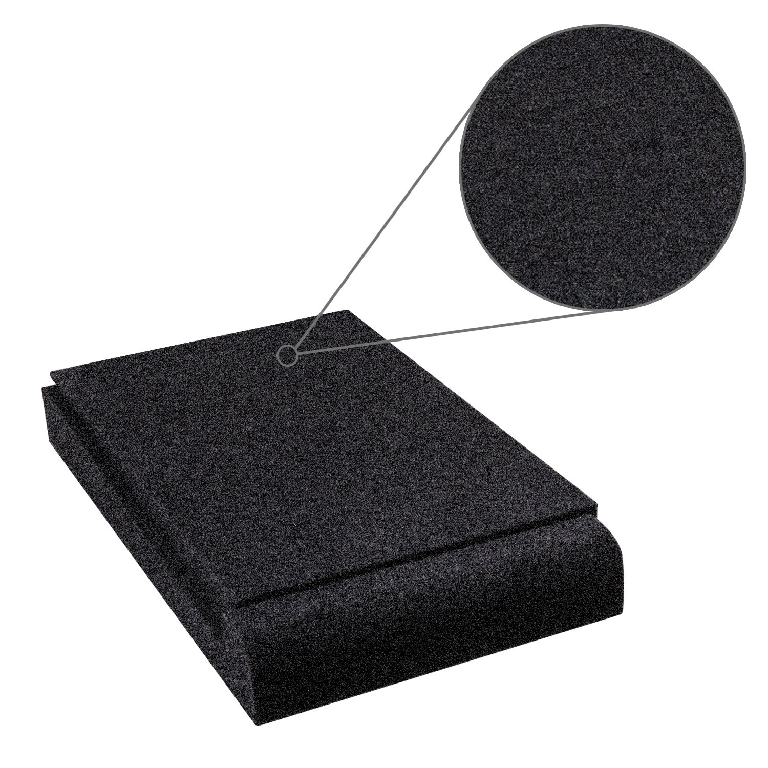Studio Monitor Isolation Pads, Suitable for 5'' - 8'' inch for Speakers, High-Density Acoustic Foam for Significant Sound Improvement, Prevent Vibrations and Fits most Stands - 2 Pads by Shayson (Image #3)