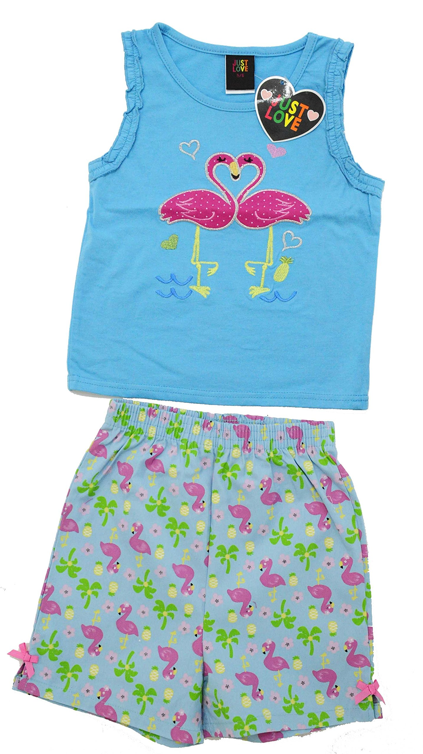 Just Love 4012-6X Two Piece Girls Shorts Set