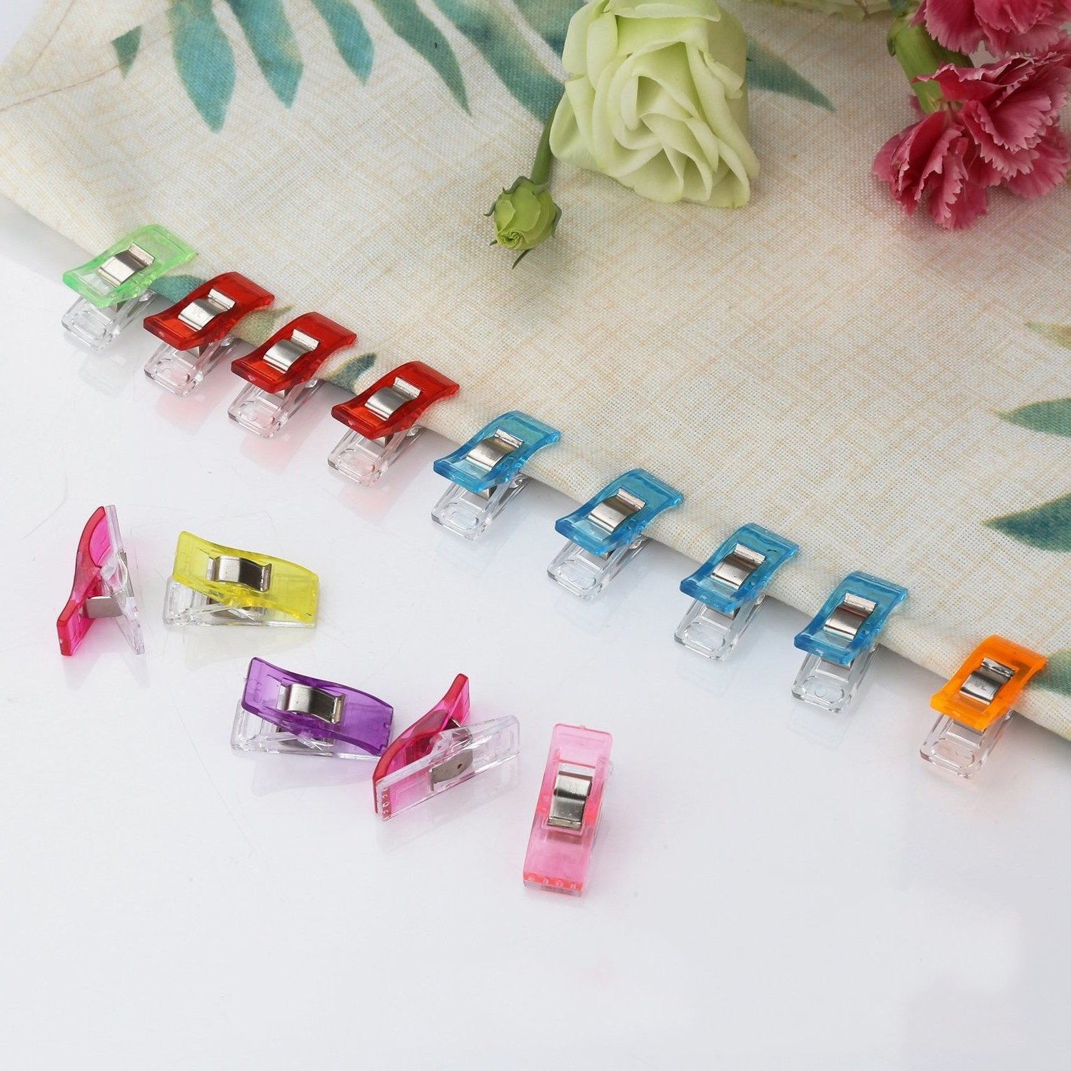 Multi Purpose Craft Clips for Sewing Quilting Crafting 5 Assorted Colors 100 Pack GLE2016 Sewing Clips