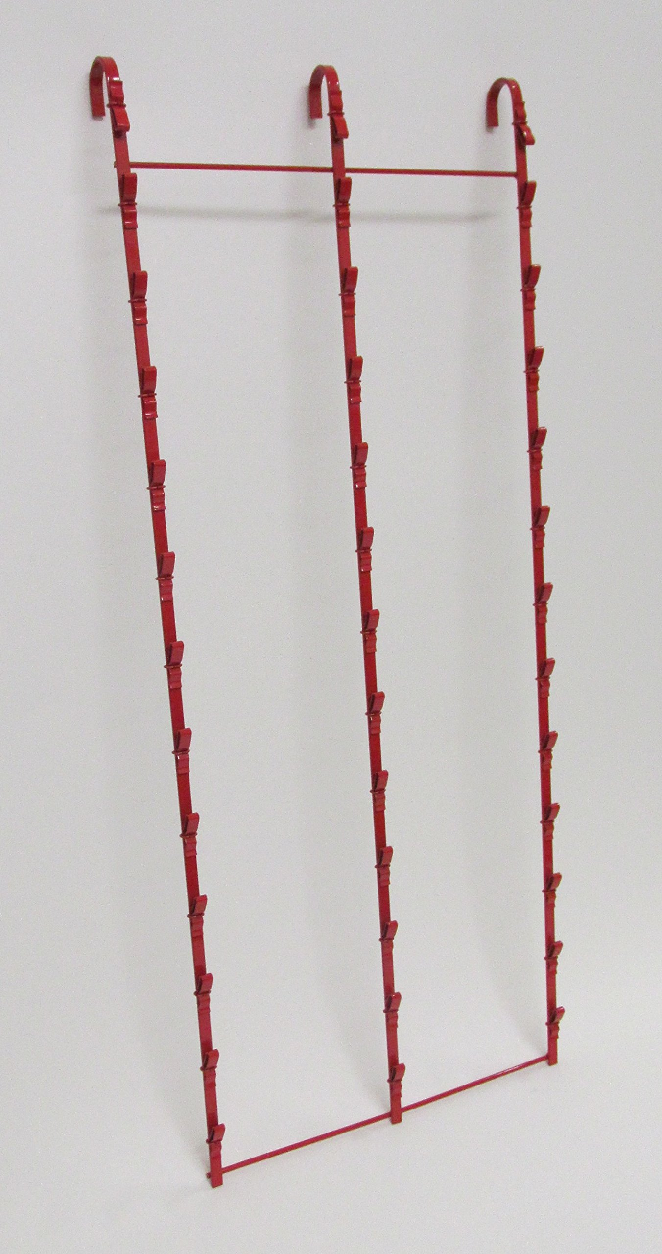 New Retail Hanging Clipper Display Grid Panel Rack 36 Clips Red by Counter Display (Image #4)