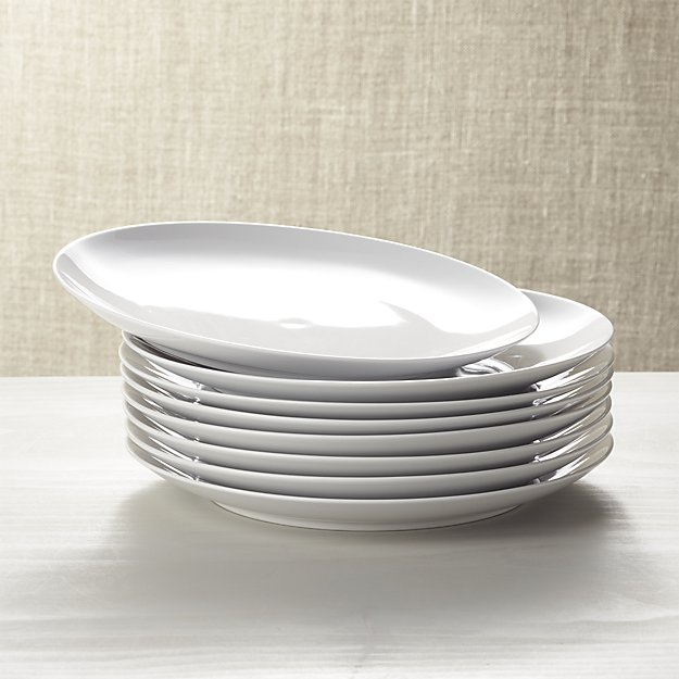 Set of 8 Essential Dinner Plates | Crate and Barrel