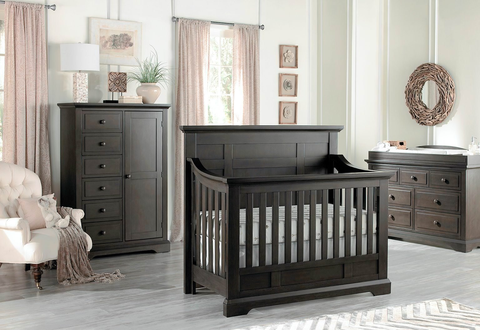 Full Size Conversion Kit Bed Rails for Oxford Baby Cribs (Slate) by CC KITS (Image #3)