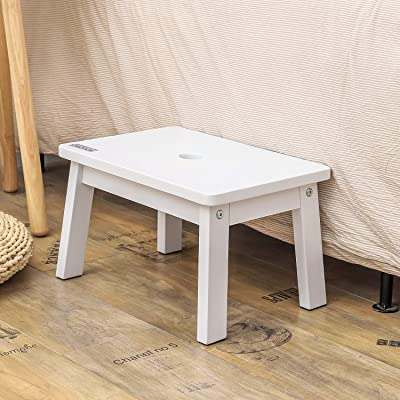 Buy Houchics Wooden Step Stool For Kids Small Wood Foot Stool For Kitchen Bedroom Living Room Bathroom Online In Indonesia B091nlr7hb