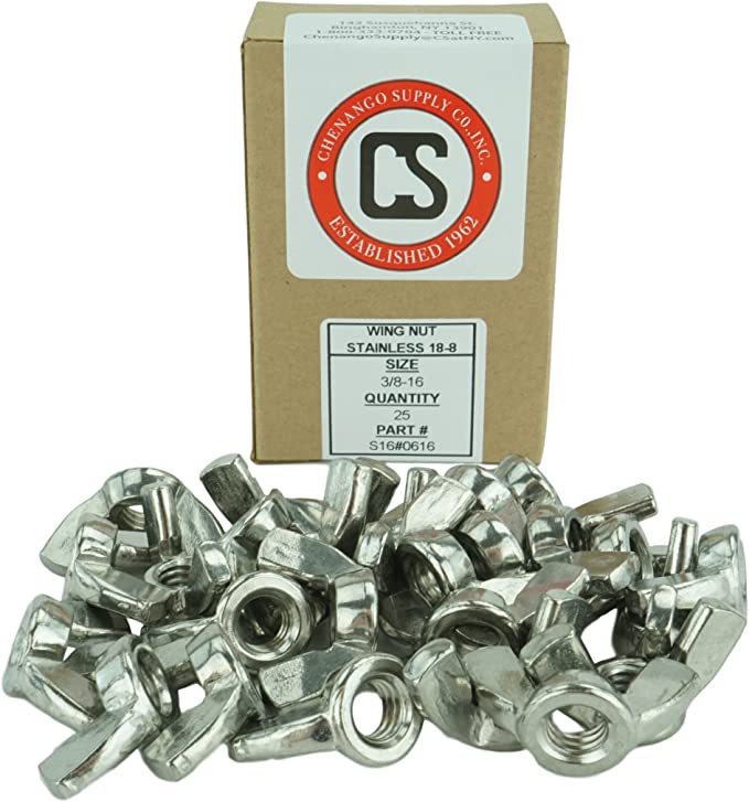 4-Pack The Hillman Group 3002 5//16-18-Inch Stainless Steel Wing Nut