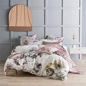 Linen House Ellaria Duvet Cover Set, Multicoloured, Super King