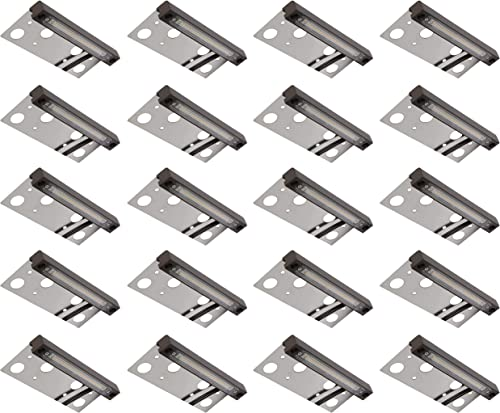 20-Pack GKOLED Hardscape Light, Paver Wall Light, 6.8 Inches Long, Integrated 4W 2700K LED Light Source, LED Step Light, Solid Powder Coated Die-cast Aluminum Housing, Low Voltage 12V AC DC, UL Listed