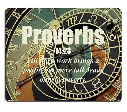 Bible Versets Citation Proverbe 14 23 Coque Rigide Pour