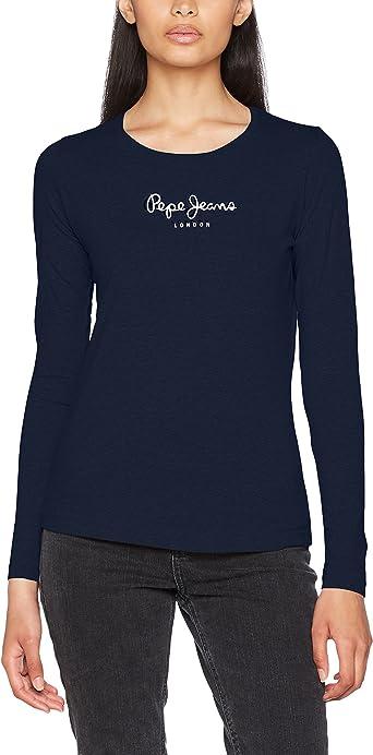 Pepe Jeans New Virginia Ls, Camiseta Para Mujer: Amazon.es: Ropa y accesorios