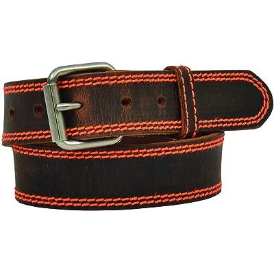 "3D 1 1/4"" Brown Boys' Western Basic Belt"