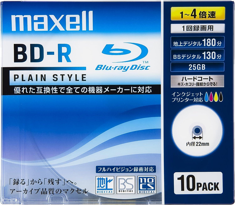 Maxell Blue Disco Blu-Ray BD-R, 25 GB 4 x Speed 10 Pack – Plain ...