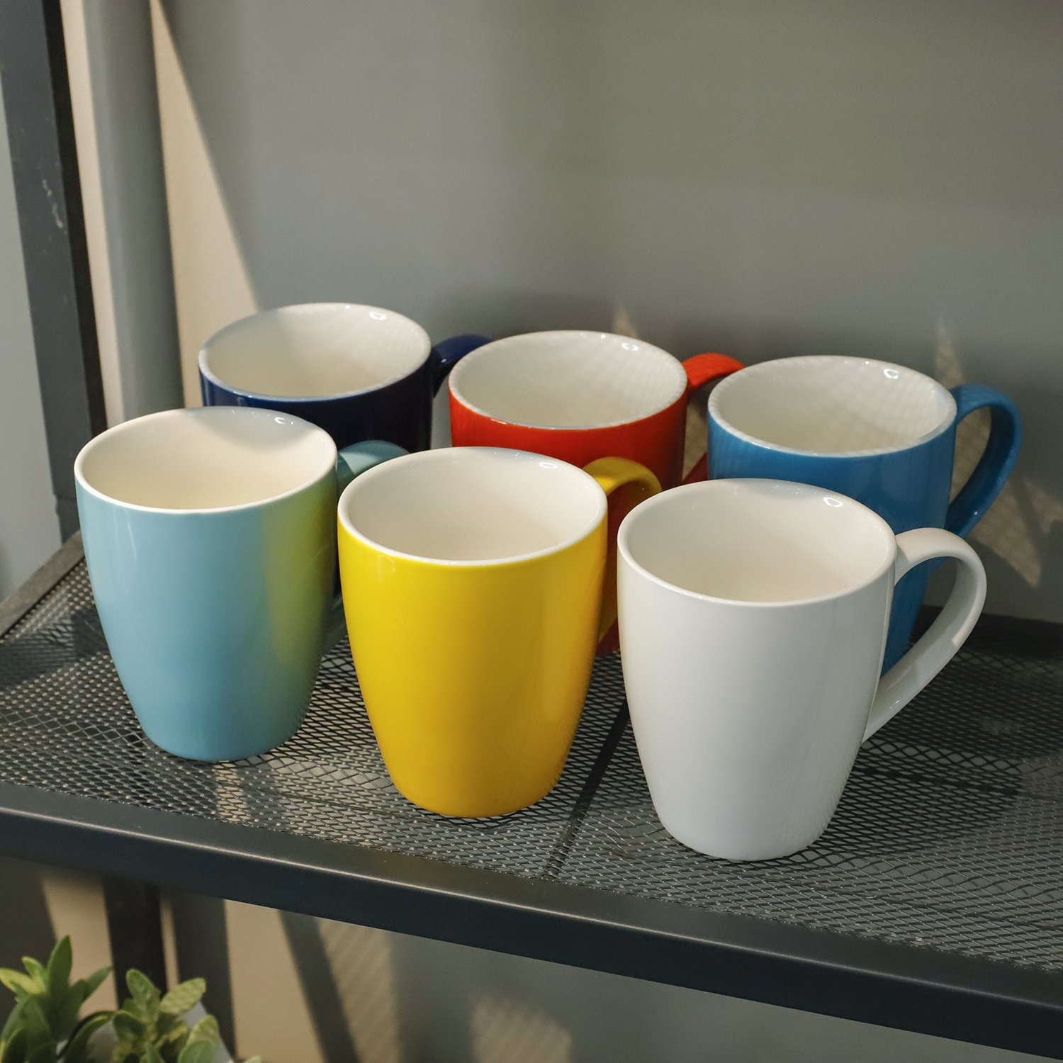 Sweese 6202 Porcelain Mugs - 16 Ounce for Coffee, Tea, Cocoa, Set of 6, Hot Assorted Colors by Sweese (Image #5)