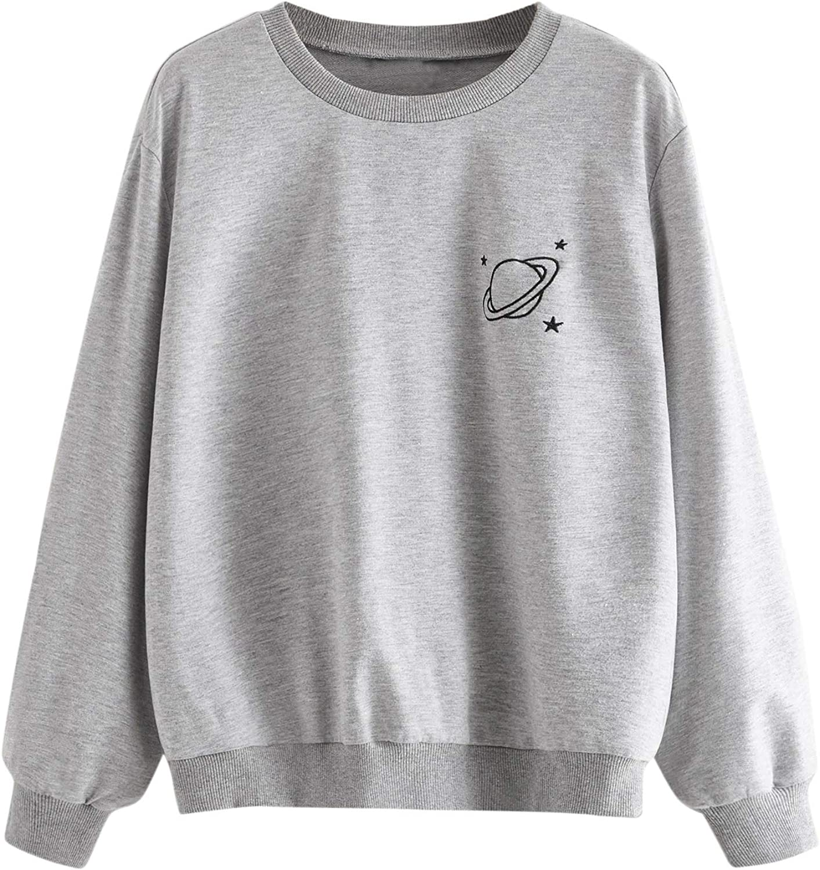 Cute Long Sleeve Tops Blouse Black Womens Squirrel Crop Top Pullover Sweatshirt