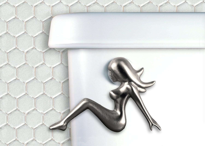 Functional Fine Art Mud Flap Girl Toilet Handle
