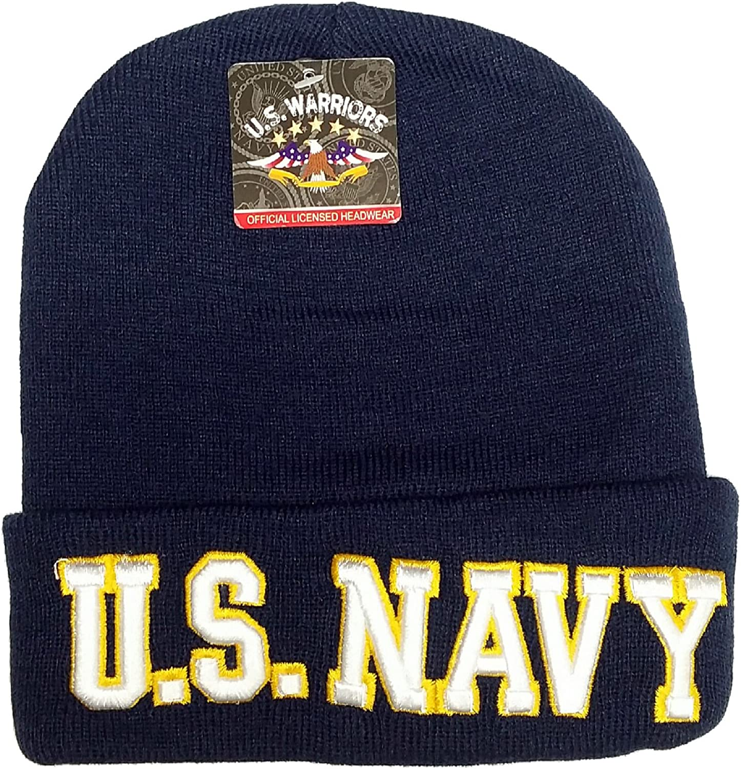 Officially Licensed Marines Stitched Hat Cap Lid Beanie