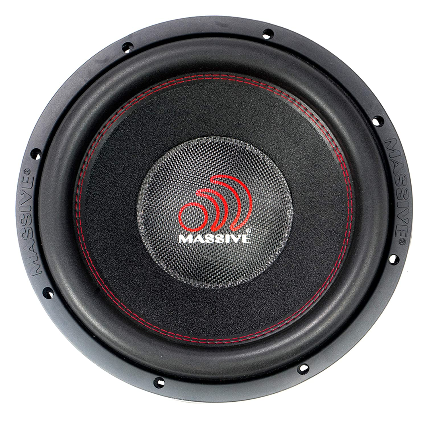 3 Inch Voice Coil SPL Extreme Bass Woofer 12 Inch Car Audio 4,000 Watt HippoXL Series Competition Subwoofer Sold Individually Dual 4 Ohm Car Subwoofer by Massive Audio HippoXL124