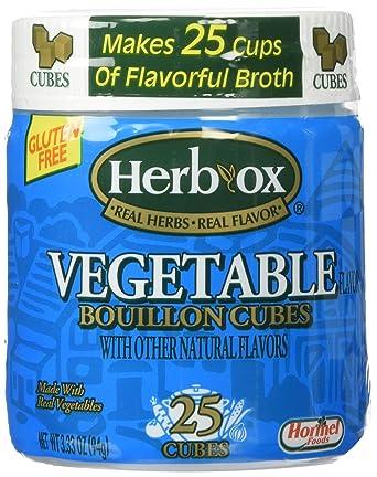 herb-ox 3.33oz para cubitos de caldo de verduras (25 Cubos ...