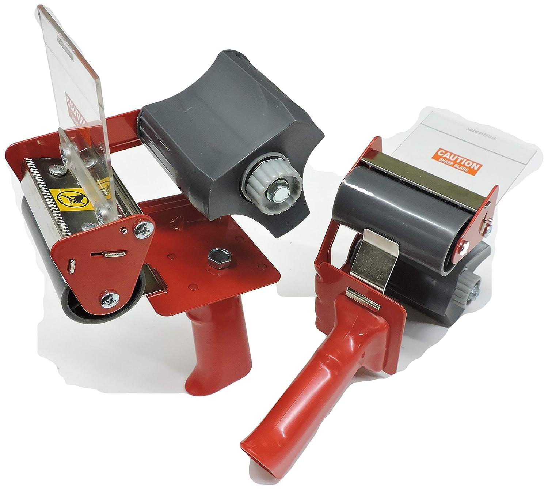 """2pk of 3"""" in Heavy Duty Tape Gun Dispenser Box Carton Sealing Packing Packaging Tape Kit Side Loading Mandrel Commercial"""