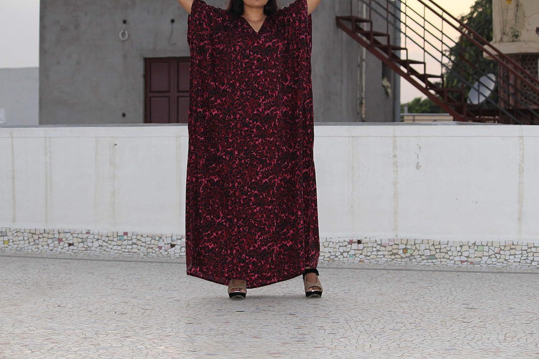 Womens Loose Kaftan Plus Size Beach Caftan Long Maxi Gown Night Dress
