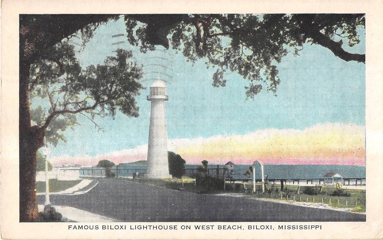 Biloxi Mississippi Famous Biloxi Lighthouse On West Beach Antique Pc V14788 At Amazon S Entertainment Collectibles Store