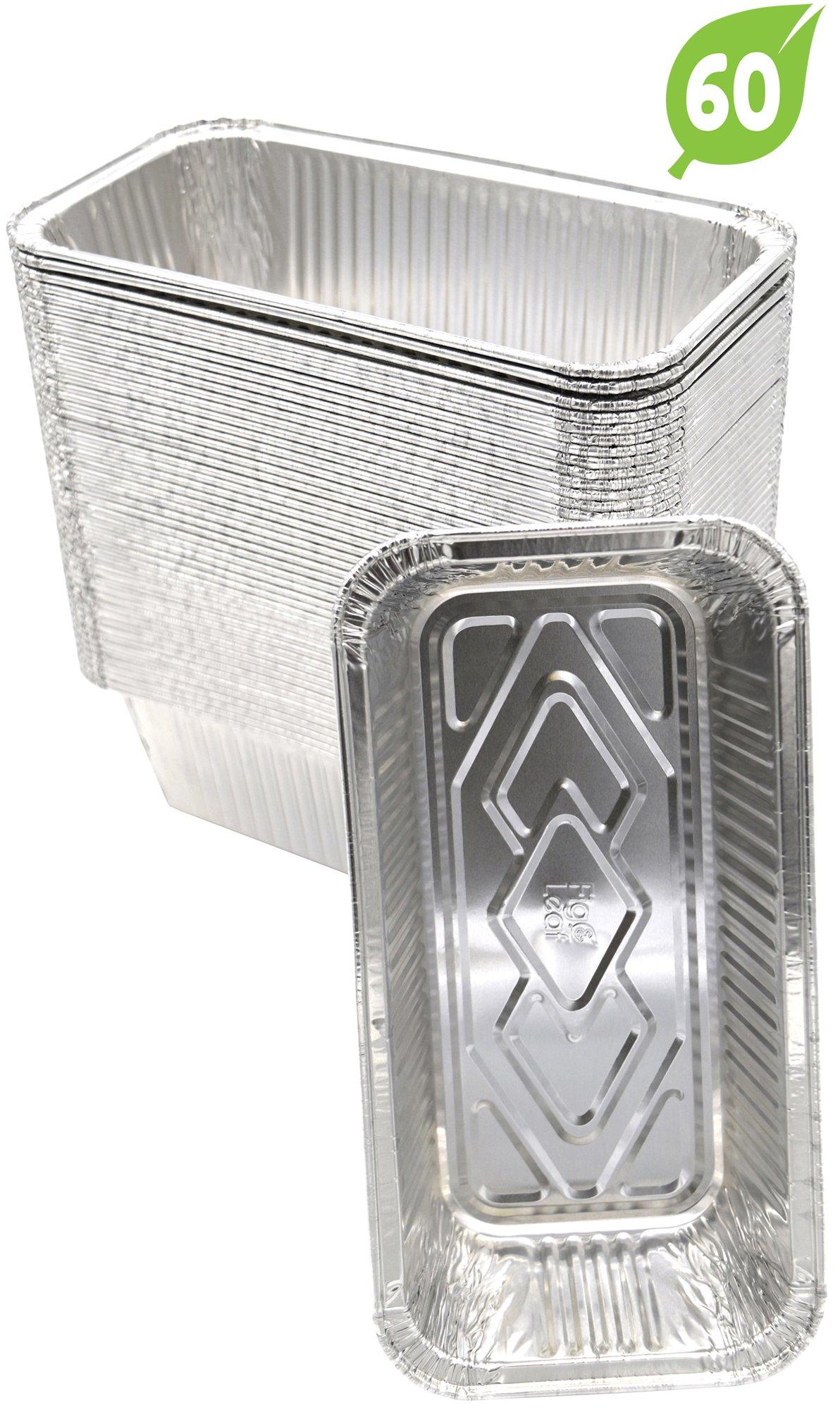 (60 Pack) Premium 2-LB Loaf Baking Pans - Standard Size 8.5'' x 4.5'' x 2.5'' l Top Baker's Choice Aluminum Foil
