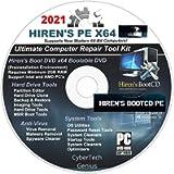 Hiren's Boot CD/DVD PE x64 bit Software Repair Tools Suite 2021 + 1 Free Do-It-Yourself Instructions DVD/Live Phone Tech…