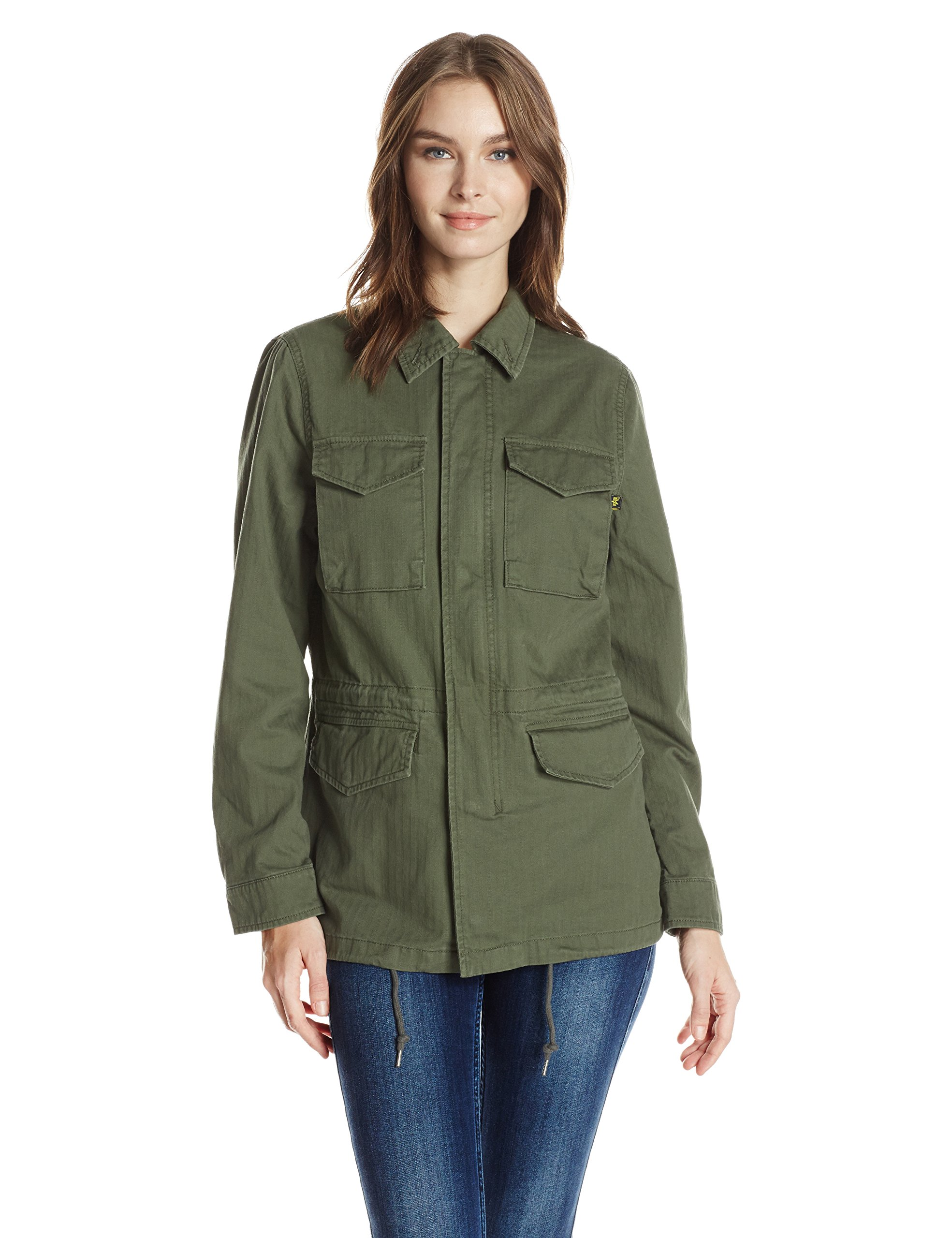 Alpha Industries Women's Revival Field Coat W, Olive, S