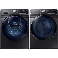 "WF50K7500AV 27"" Energy Star Front-Load Washer with Large 5.0 cu. ft. Capacity, AddWash Door, DV50K7500EV 27"" Energy Star Electric Dryer in Black Stainless Steel"