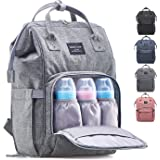 KiddyCare Diaper Bag Backpack – Multi-Function Baby Bag, Maternity Nappy Bags for Travel, Large Capacity, Waterproof, Durable