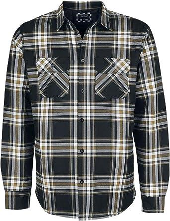 Chet Rock Camisa Franela Thermo Hombre Camisa de Franela Negro-Blanco, Regular: Amazon.es: Ropa y accesorios