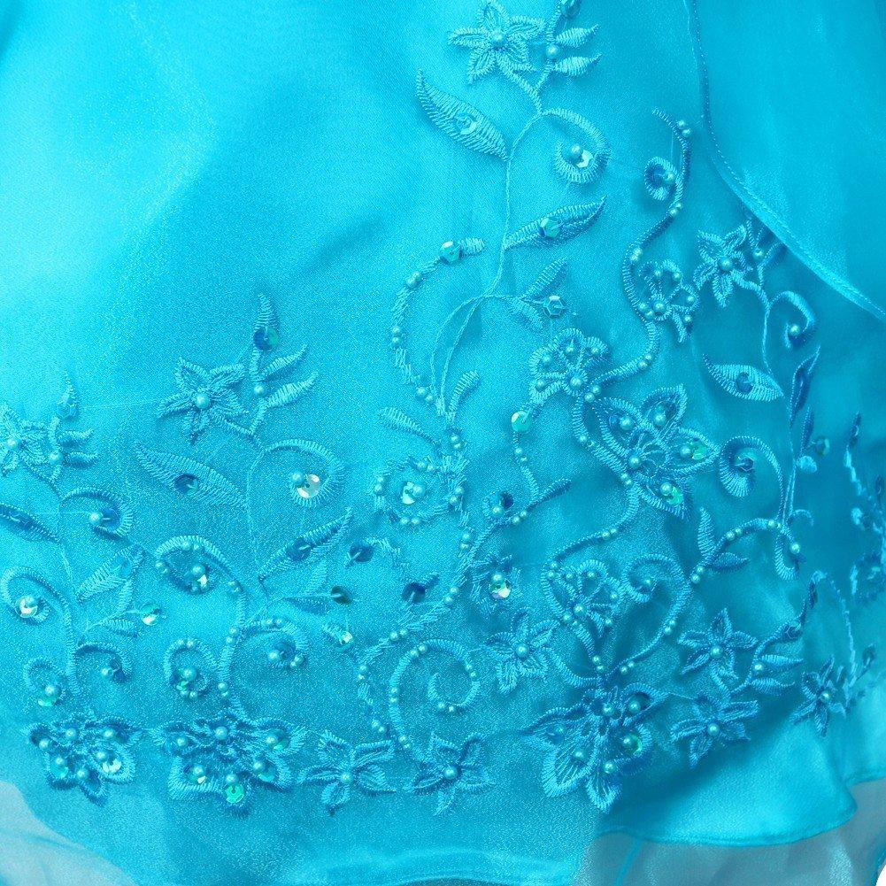 Tiaobug Kinder Mädchen Kleider Festlich 104 110 116 128 140 152 164  Blumenmädchen Kleidung c4dfaa8d03