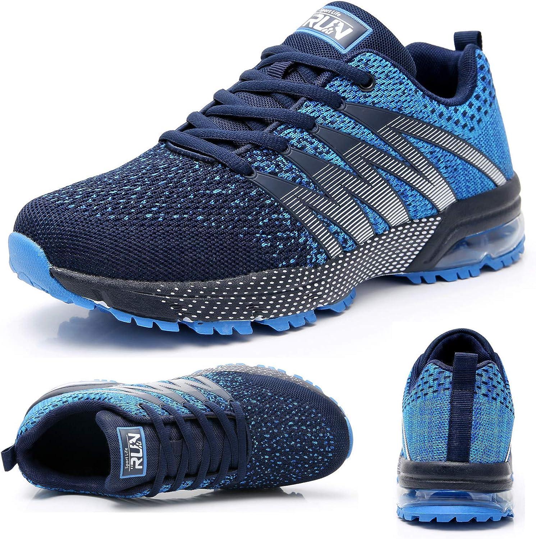 AX BOXING Baskets Homme Chaussure de Sport Sneakers Running Respirantes Athl/étique Courtes Fitness Tennis 43 EU, A9102-Bleu
