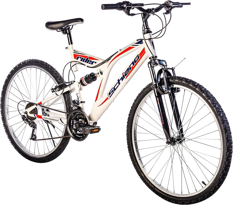 F.lli Schiano Rider Shimano Bicicleta Biamortiguada 18V Hombre