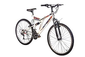 F.lli Schiano Rider Shimano Bicicleta Biamortiguada 18V, Hombre, Blanco/Rojo,
