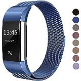 Sun studio Correa Fitbit Charge 2, Milanese Loop de Acero Inoxidable Reemplazo Wristband Pulsera Fitbit Charge 2 con Cerradura Imán para Fitbit Charge 2