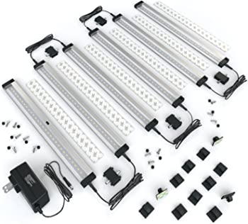[New] EShine 6 Panels 12 inch LED Dimmable Under Cabinet Lighting Kit