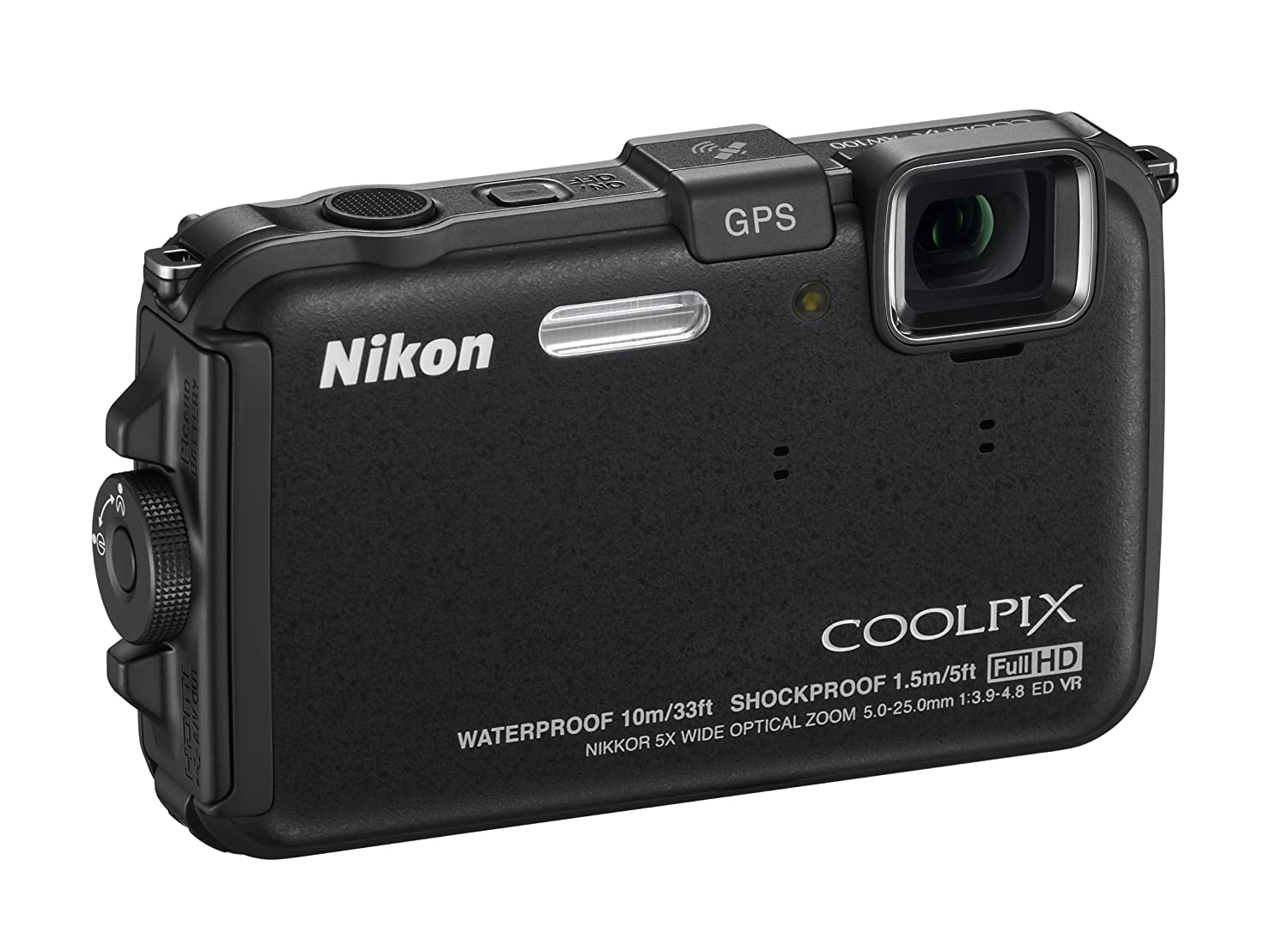 Amazon.com : Nikon COOLPIX AW100 16 MP CMOS Waterproof Digital Camera with  GPS and Full HD 1080p Video (Black) : Point And Shoot Digital Cameras :  Camera & ...