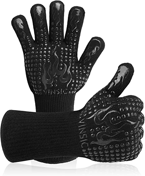 1472℉ Extreme Heat Resistant Cooking Oven Gloves Silicone Grill BBQ Mitts