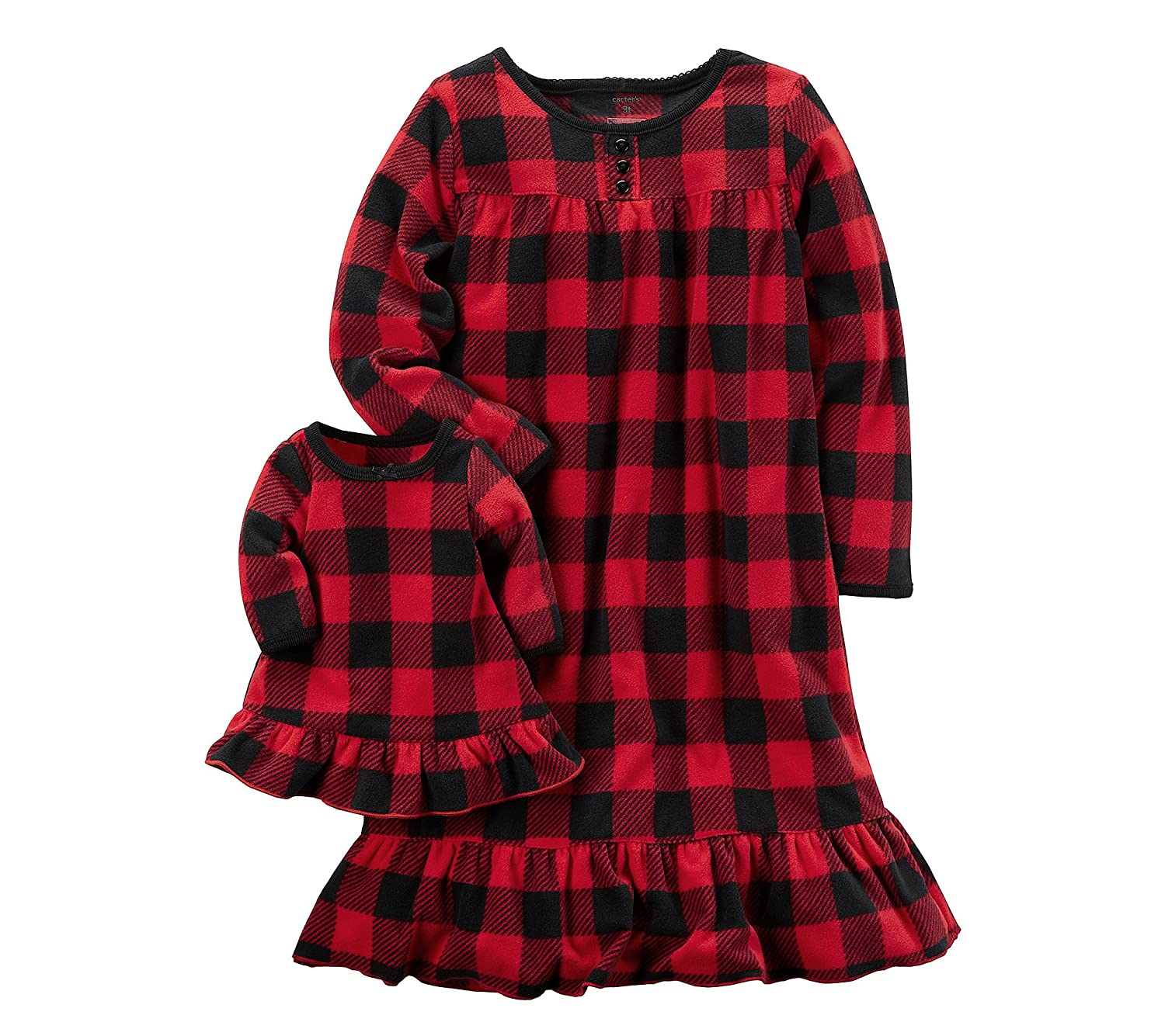 Carter's Girls' 4-14 Fleece Doll Gown Set