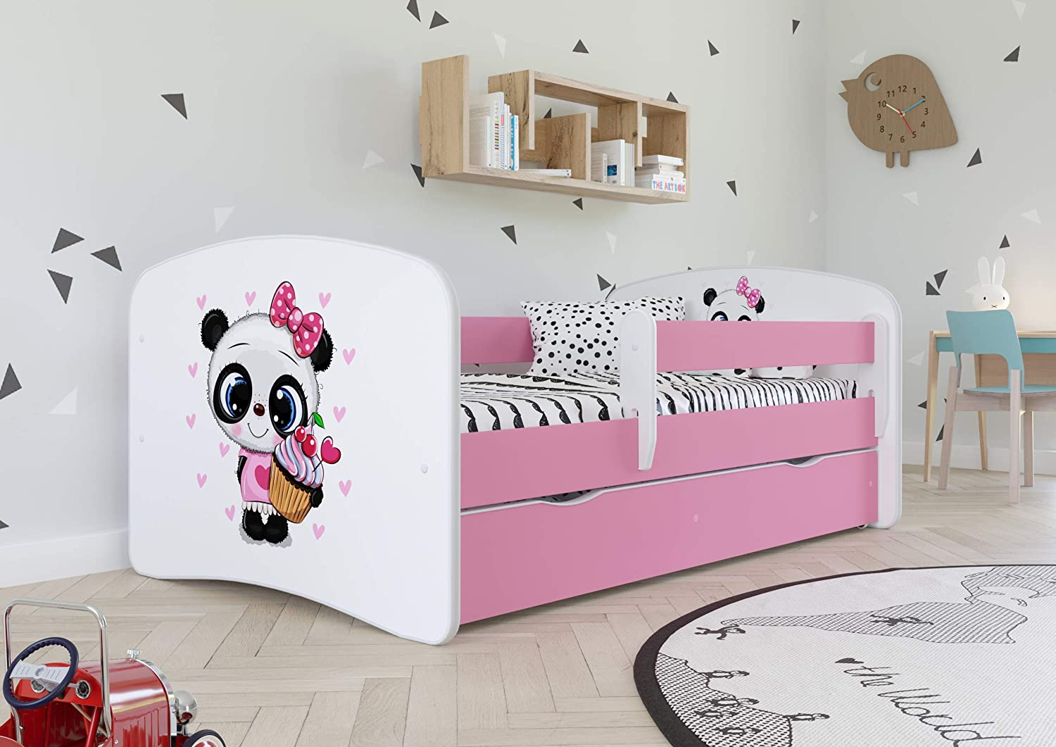 Wonderhome24 Pink Toddler Girl Bed Kids Bed Princess Horse Children S Single Bed With Mattress And Storage Included Bd 160x80 Panda Amazon Co Uk Kitchen Home