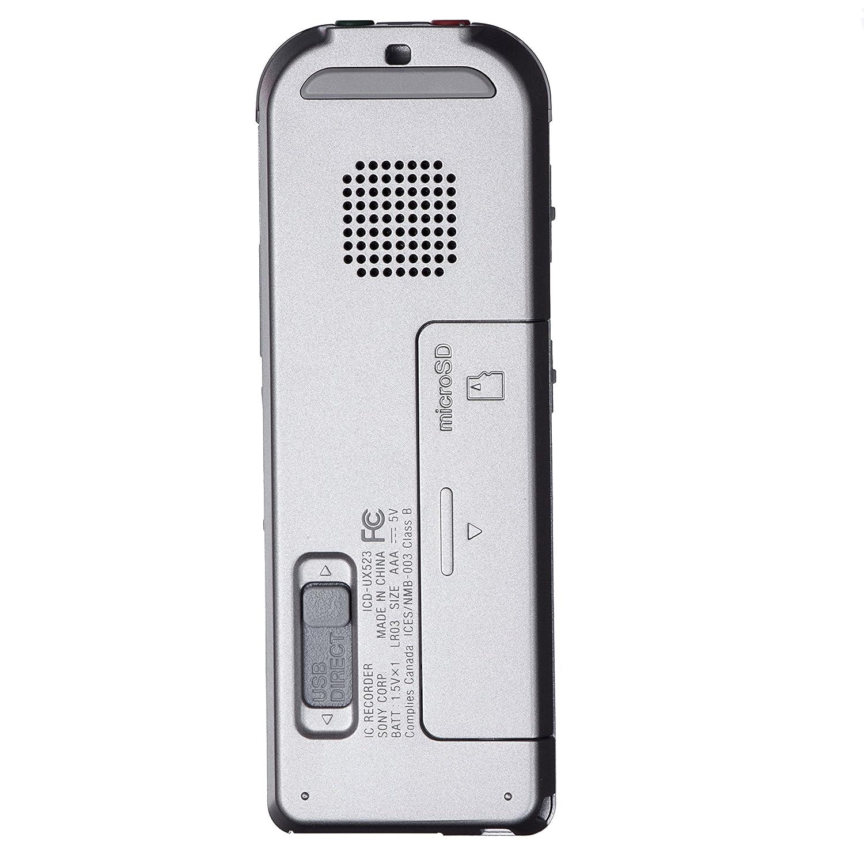 amazon com sony icdux523 digital flash voice recorder electronics rh amazon com IC Sony Recorder ICD -B500 Manual Sony ICD -PX333 Digital Voice Recorder